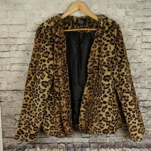Jackets & Blazers - Furry fluffy Leopard Teddy coat